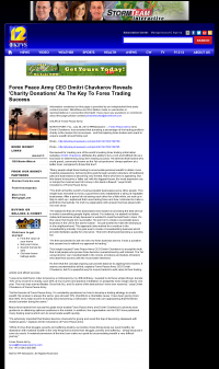 Forex Peace Army -  KFVS CBS-12 (Cape Girardeau, MO)  - Charitable Donations Provide Successful Forex Trades