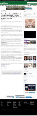 Forex Peace Army -  Austin Business Journal  - Charitable Donations Provide Successful Forex Trades