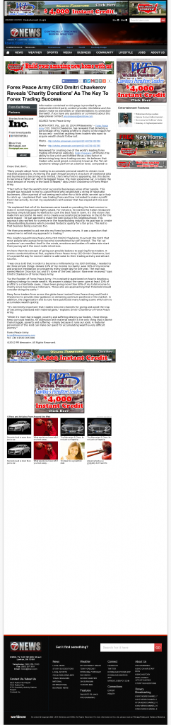 Forex Peace Army - KSWO-TV ABC-7 (Lawton, OK) - Charitable Donations Provide Successful Forex Trades