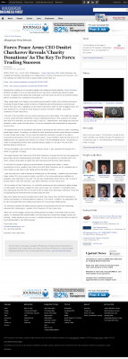 Forex Peace Army -  New Mexico Business Weekly  - Charitable Donations Provide Successful Forex Trades