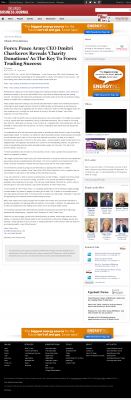 Forex Peace Army -  Orlando Business Journal  - Charitable Donations Provide Successful Forex Trades