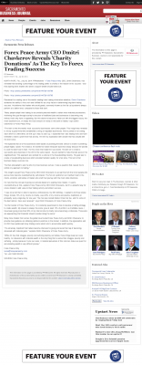 Forex Peace Army -  Sacramento Business Journal  - Charitable Donations Provide Successful Forex Trades