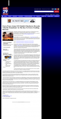 Forex Peace Army -  WFLX FOX-29 (West Palm Beach, FL)  - Charitable Donations Provide Successful Forex Trades