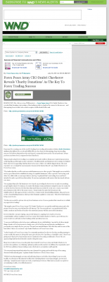 Forex Peace Army -  WorldNetDaily  - Charitable Donations Provide Successful Forex Trades